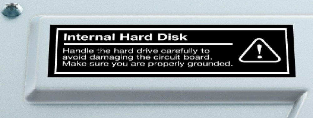 OS X hard drive icon label zoomed