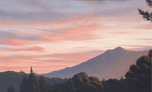 Kathleen Lipinski Mt. Tamalpais at Sunset. Oil on Canvas