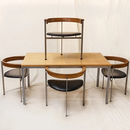 Poul Kjaerholm Table and Chairs Sold By Fine Estate, Inc.