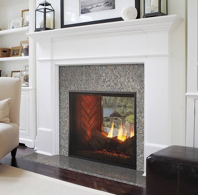 Gas Fireplace Indoor Fortress Indoor/outdoor Fireplace | Fine's Gas