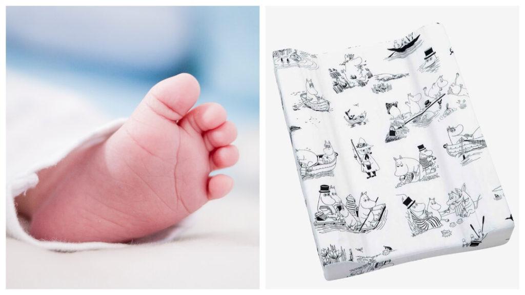Tips på babyshowerpresenter 2019: Mumin Skärgård skötbädd från Rätt Start