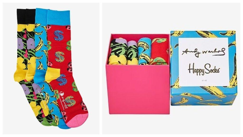 Presenttips till honom: Happy Socks, Presentask Strumpor Andy Warhol Sock Box, 4-Pack