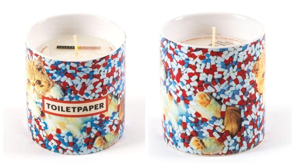 julklapptips till pojkvännen: Toiletpaper Pills doftljus från Seletti