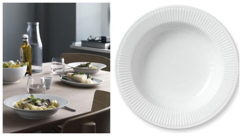 tips på forlovelsegaver: White Fluted pastatallerken fra Royal Copenhagen