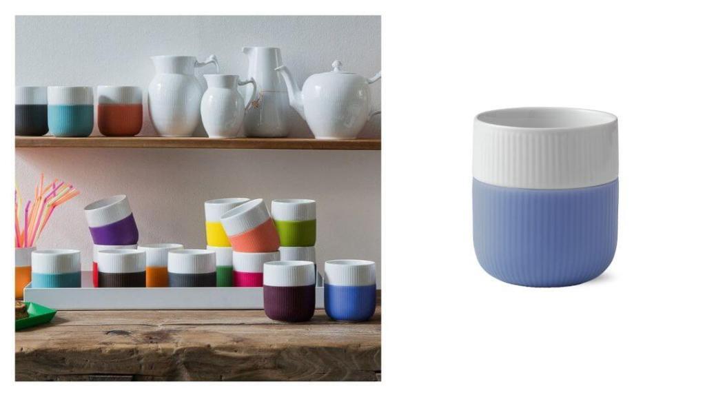 tips på forlovelsegaver: Fluted Contrast kopp fra Royal Copenhagen