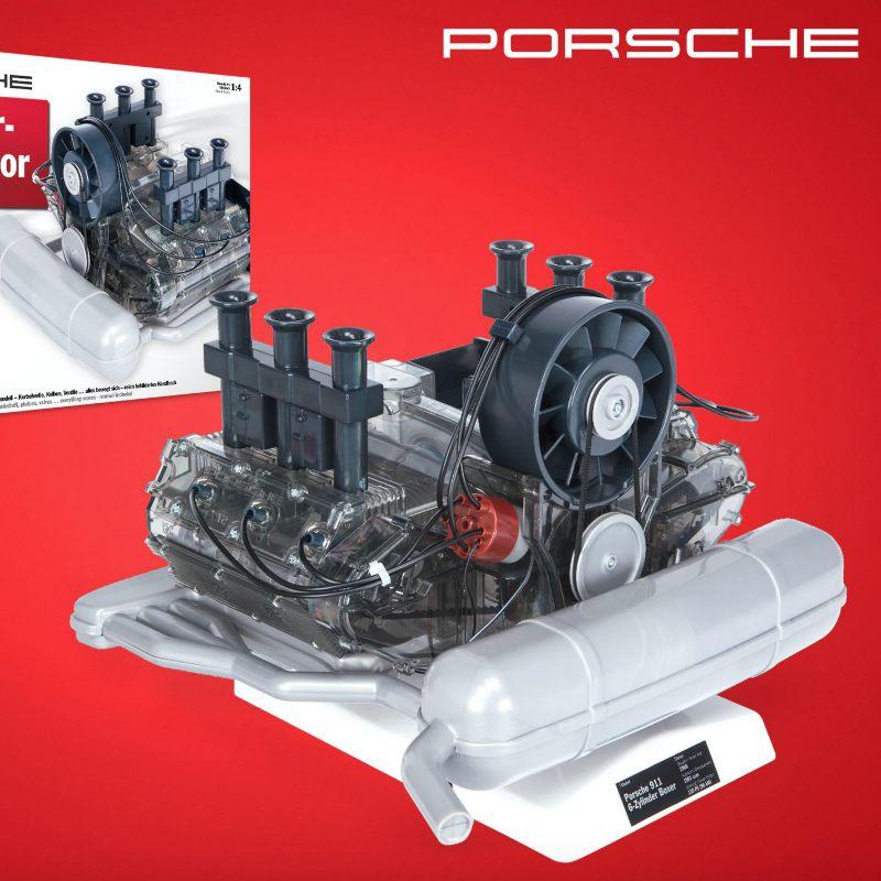 Porsche-motor modellbyggesett