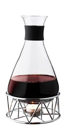 Glöggkaraffel Glass Med Kromad Ställning 1 Liter