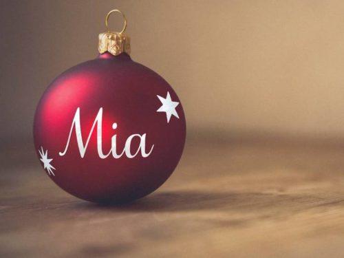 Julekule med navn delux