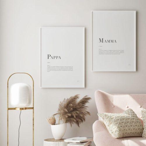 MAMMA + PAPPA 2pk posters