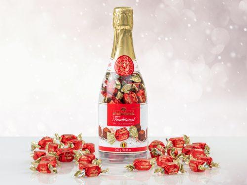 Sjokoladetrøfler i champagneflaske