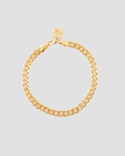Bracelet Link armbånd i sølv og gull