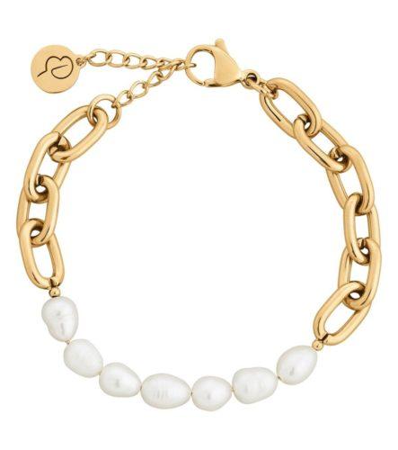 Trellis Pearl Gold Armbånd