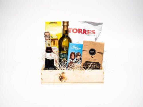 Spanska presentkorgen: Olika delikatesser