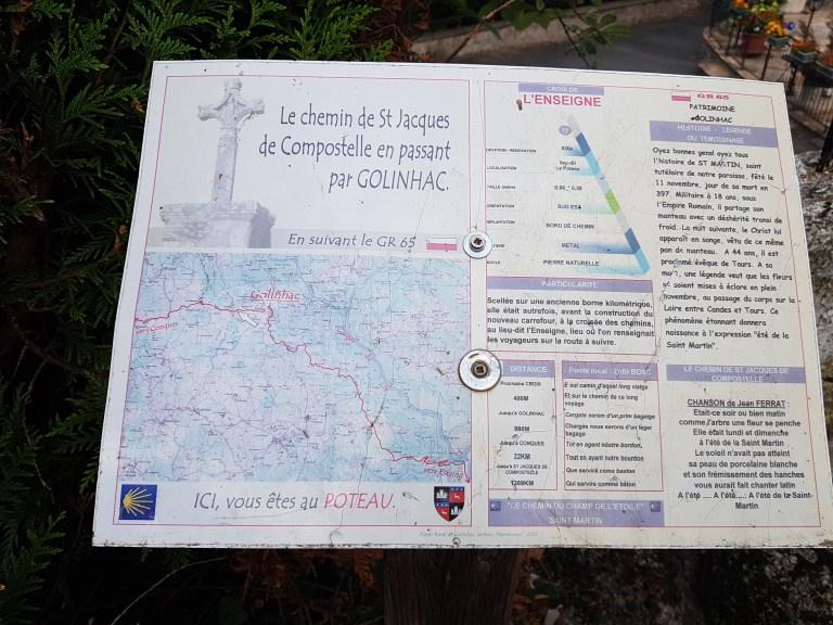 Golinhac map
