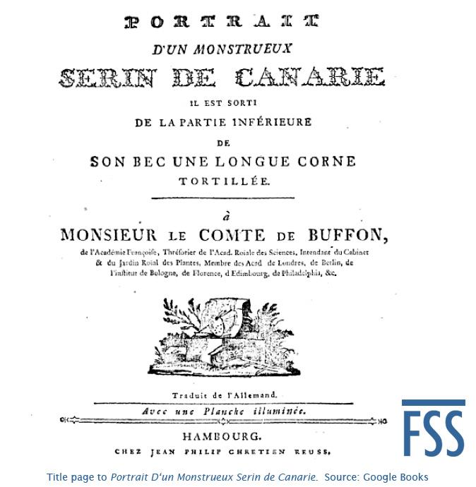 Mosnstueux Serin de Canarie title page-FSS