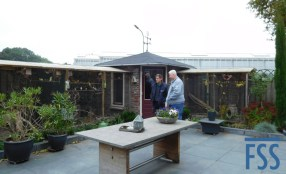Piet's aviaries where he accommodates his pensioners