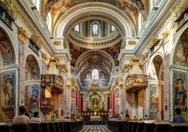 Ljubljana Cathedral Slovenia Interior