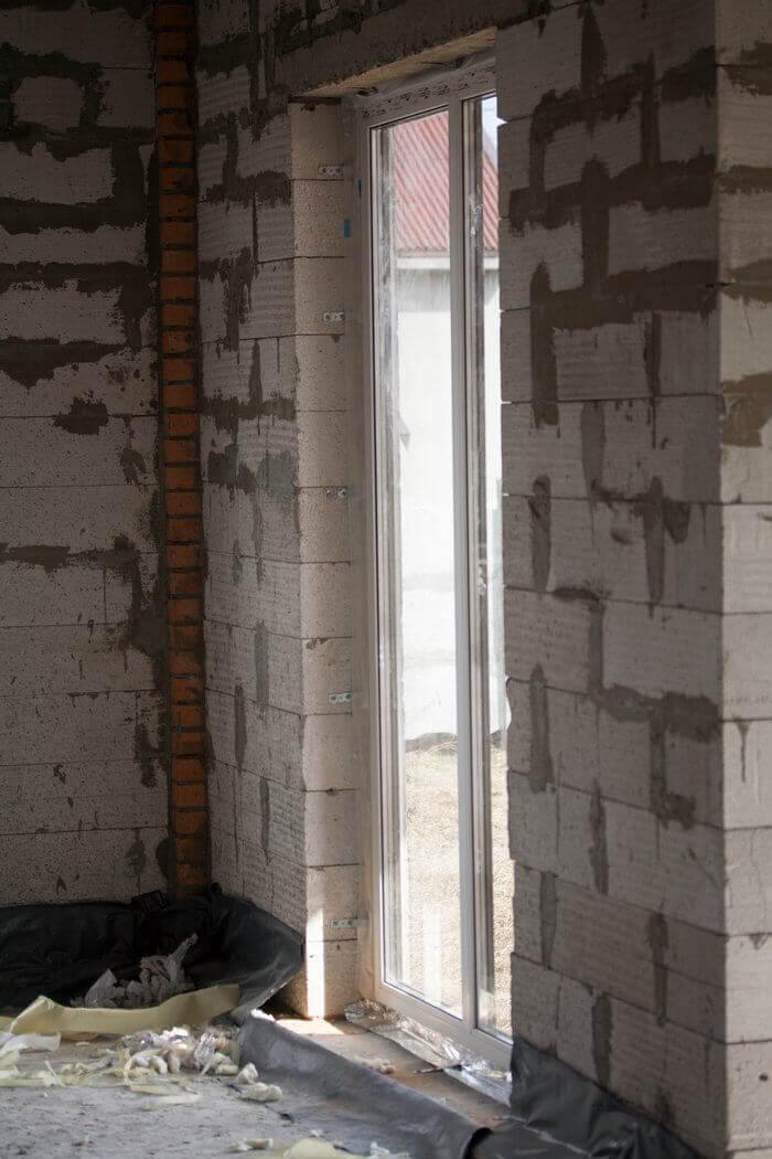 Финестрелли правильная установка по схеме стандарт панорамной двери вид изнутри