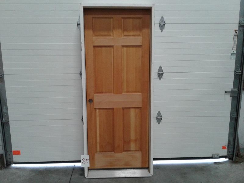 Exterior Pre Hung 26x68 6 Panel Wood Clys000085 Finetco