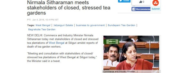 India tea gardens often in the news