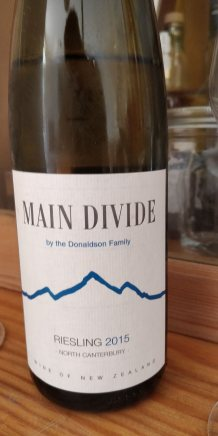 Main Divide Riesling Pegasus Bay Label