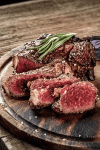 Wine and steak