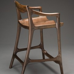 Chair Side Book Stand Mismatched Dining Room Chairs Maloof-style Sculpted Bar Stool