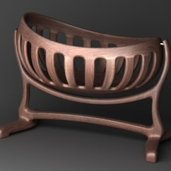 Maple Rocking Chair Plus Size Chairs Handmade Sculpted Cradle In Walnut By Scott Morrison