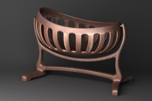 ipad stand for chair notebook handmade sculpted cradle in walnut by scott morrison