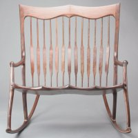 Double Rocking Chair, Walnut Rocking Chair, Chair Maker