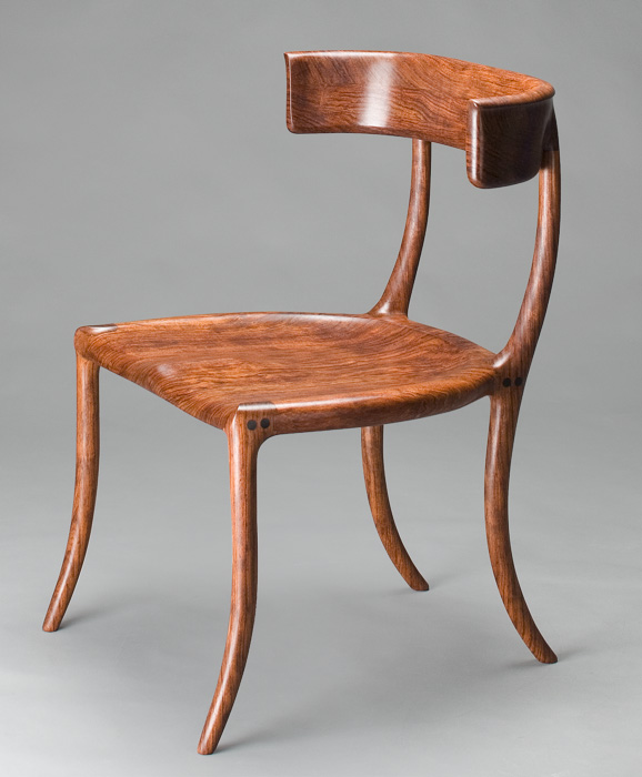 sam maloof chair plans studded dining chairs custom chair, klismos handmade walnut by scott morrison