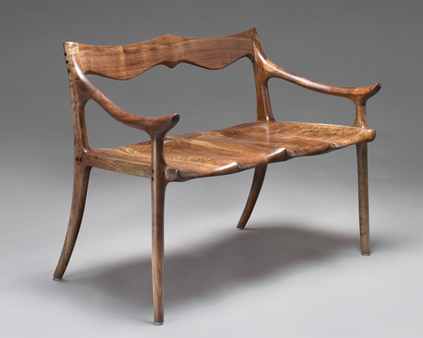 Sculpted Settee and Custom Bench by Scott Morrison