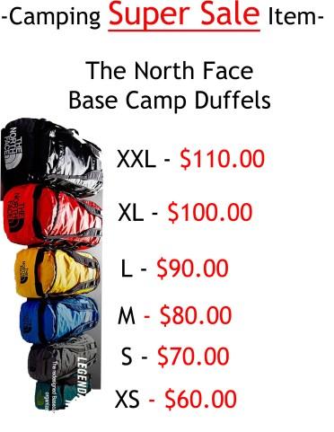 North Face Duffels
