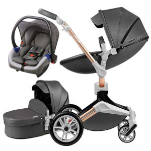 Hot Mom Barnvagn 3 i 1 multifunktionellt resesystem med bilbarnstol, modell F023