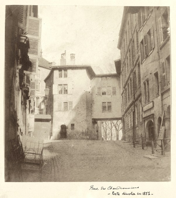 A historic photograph of a street where Jane Griffin stayed in 1815-1816.