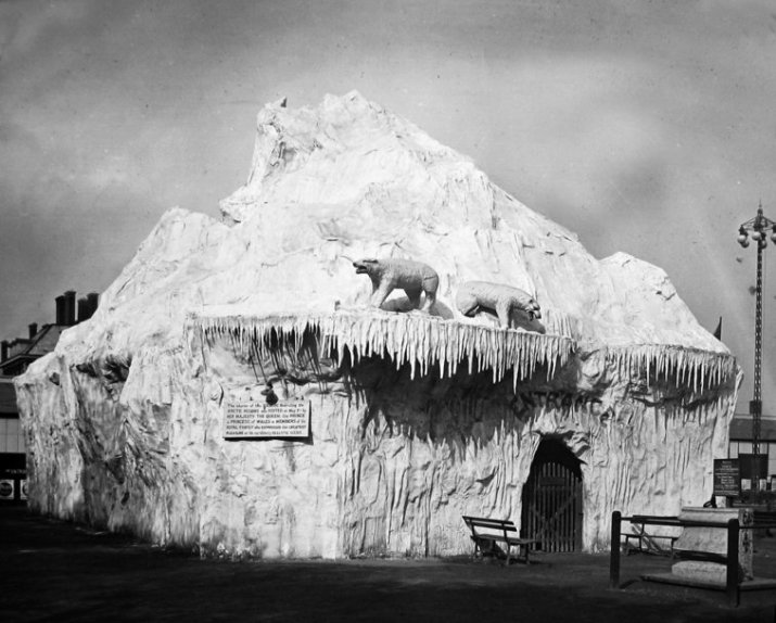 Iceberg exterior, Royal Naval Exhibition of 1891 in London.