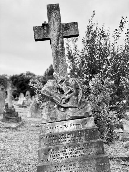 The gravestone of Sir John Ross in Kensal Green Cemetery, London.