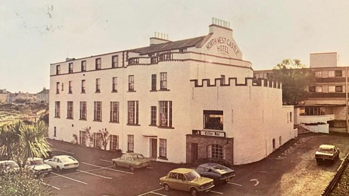 An old postcard of North-West Castle Hotel in Stranraer.