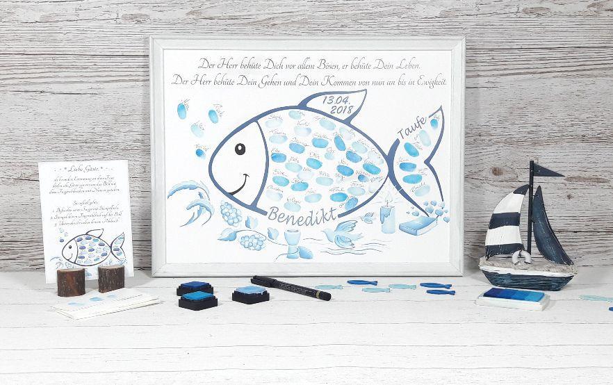 Fingerabdruck Fisch, Taufe Fisch