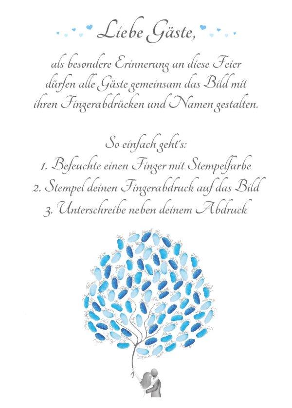 Wedding Tree Anleitung, Fingerabdruckbaum Anleitung