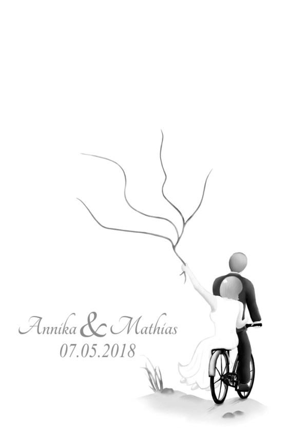 Wedding tree Fahrrad