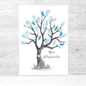 Lieblingsmensch Geschenke, Fingerabdruckbaum als personalisierte Geschenkidee, Freundebuch für Erwachsene