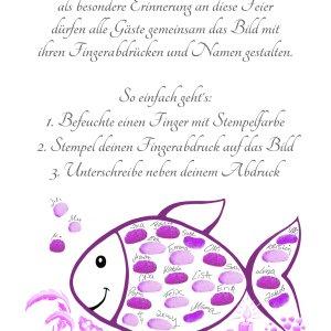 Fingerabdruckfisch Taufe, Tauffisch, Fingerabdruckfisch Anleitung