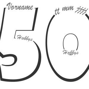 Fingerabdruckbaum Geburtstag 50