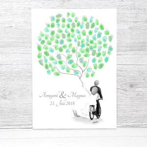 Wedding tree Fahrrad, Fingerabdruck Fahrrad Hochzeit, Wedding tree Leinwand, Fahrrad Hochzeit, Hochzeitsgeschenk Fahrrad