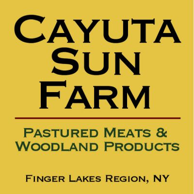 Cayuta Sun Farm: Pork Sausage BBQ. Sunday, 11:30am-1:30pm on 8/26/18
