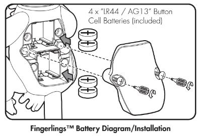 Finger Monkey Toy Batteries