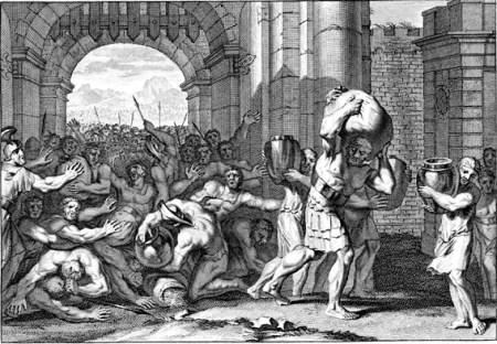 사마리아의 포위가 풀려서 밟히고 있는 고관 - 열왕기하 7장