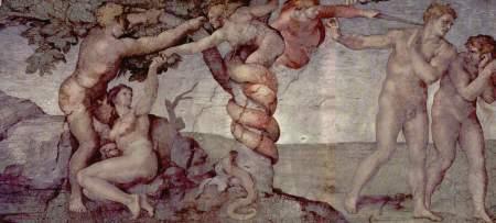 아담과 하와의 타락 - Michelangelo Buonarroti