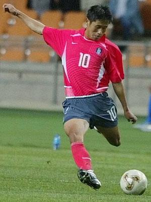 이영표 - 2002년 월드컵 슈팅 장면